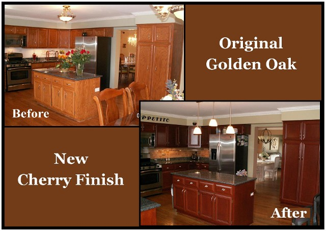 furniture-refinishing-wall-mounted-oak-kitchen-cabinets-dark-stain-color-with-gold-color-handle-door-ideas-refinishing-oak-cabinets-efinishing-oak-kitchen-cabinets-darjer-refinishing-oak Resurfacing Kitchen Cabinets Diy