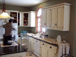 Wheaton kitchen cabinet refacing cabinet refininshing for Save wood kitchen cabinet refinishers